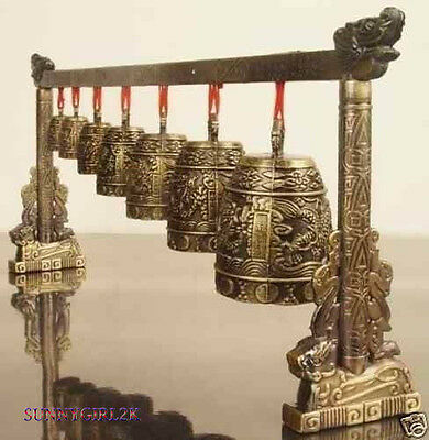 Rare Chinese Old 7 BELLS musical instrument For Music