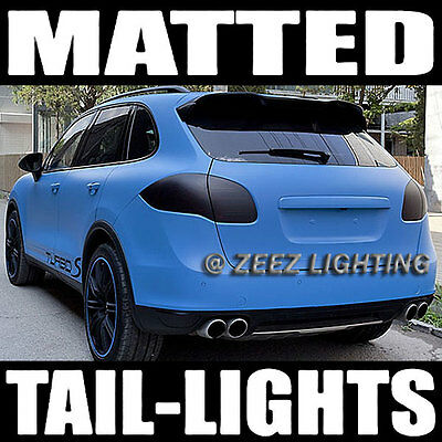 Black-Out Matte Taillight Tint Smoked Head Fog Tail Light Vinyl Tinted Film C01