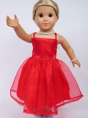 """Hot Doll Clothes for 18"""" American Girl Handmade Hot Summer Dress gown dolls b20"""