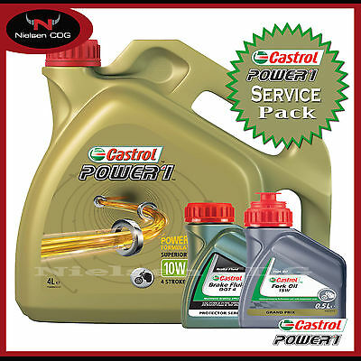Castrol Power 1 4T 10W-40 4L + 15w Fork Oil Mineral + Brake Fluid DOT 4 500ml