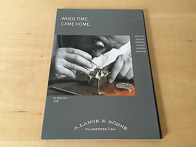 Used - DVD A. LANGE & SÖHNE - When Time Came Home - For Collectors - Usada