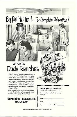 Print Ad Union Pacific Railroad RR Rock Island Golden State  California 1953