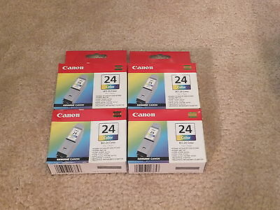 Canon 24 Color Ink Cartridges BCI-24 Lot of 4