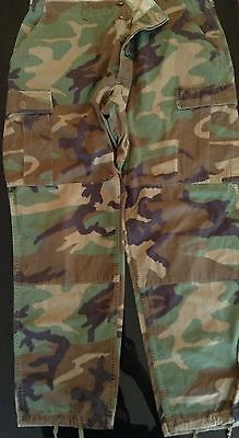 Military US Army BDU Woodland Camouflage Pants Sz Large Regular
