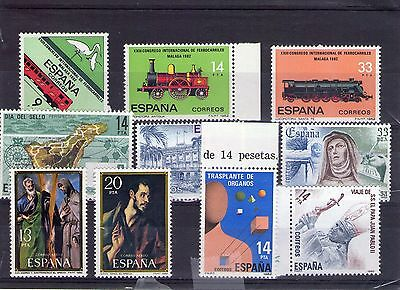 Spain small lot of Mint Never Hinged stamps 022