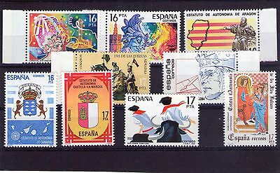 Spain small lot of Mint Never Hinged stamps 027