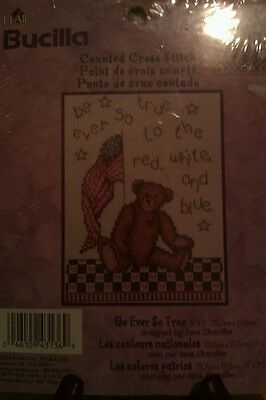 """New Plaid Brucilla Counted Cross Stitch  Kit """"Be Ever So True"""""""