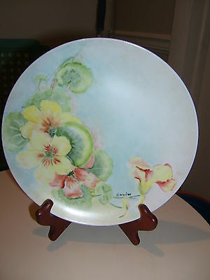 Vintage Japan Hand Painted Yellow Floral Plate - Signed