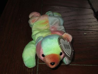 SAMMY the Colorful Bear Ty Dyed  - Retired  Beanie Baby 1999