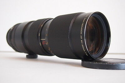 Konica Zoom-Hexanon AR 80-200mm / 3.5  Lens later version w/ built-in-tripod