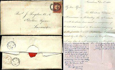 GB QV AMERSHAM SCHOOL 1860 LETTERS from HENRY + TOWNLEY SUGDEN + FOOTBALL etc
