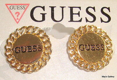GUESS  Jeans   Earring  Earrings Post Gold Tone  Charms Rhinestones   NWT