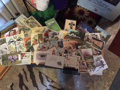Very collectible old early1900 lot of 68 post cards antique,scrapbooking-holiday
