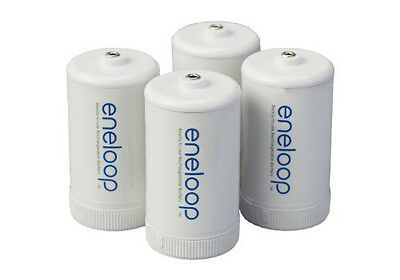 Panasonic eneloop D Spacers Adapters for use w/ AA Rechargeable Batteries (4 pk)