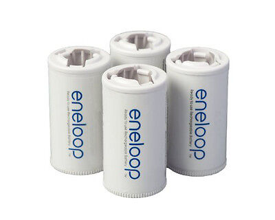 Panasonic eneloop C Spacers Adapters for use w/ AA Rechargeable Batteries (4 pk)