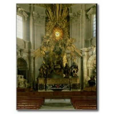 """*Postcard-""""The Chair of St. Peter"""" -1665- @ St. Peter's Basilica, Vatican City"""
