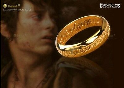 Fashion Lord Of The Rings Gold Ring One Ring Costume Jewelry Sz8
