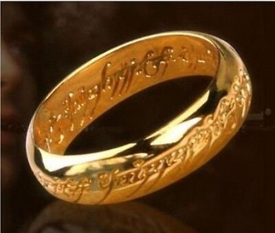 Fashion Lord Of The Rings Gold Ring One Ring Costume Jewelry Sz 9# new