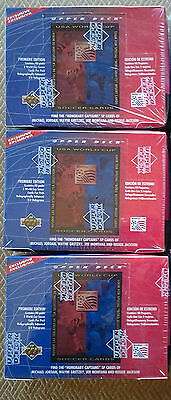 3 Factory sealed boxes of 1993 USA World Cup Soccer Cards by Upper Deck