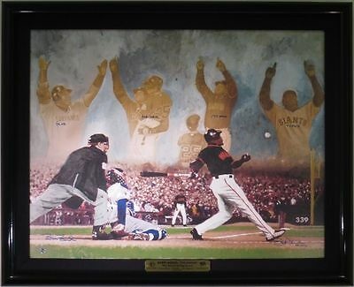 Barry Bonds Signed 'THE SEASON' Autographed Fine Art Giclee Canvas Hoskins COA