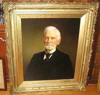 ANTIQUE OIL ON CANVAS PORTRAIT PAINTING HORATIO TREXLER READING, PA AMOS GABLE