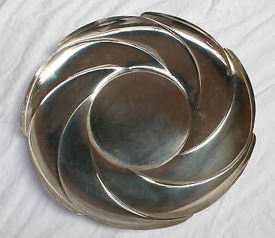Magnificent 1930 Art Deco Tiffany & Co. Sterling Silver Round Dish
