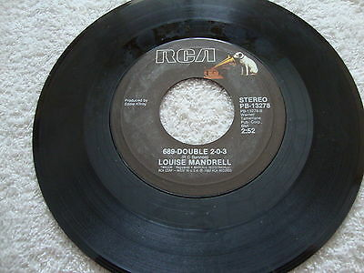 45 C&W Louise Mandrell - Some Of My Best Friends Are Old Songs RCA  USA VG++