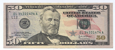 US Paper Money Bill Dollars Federal Reserve Notes Cash $ 50 Fifty Dollars