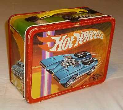 HOT WHEELS metal lunch box 1969 VINTAGE King-Seeley Thermos Co. Mattel lunchbox