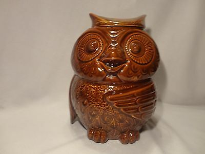 VINTAGE MCCOY WOODSY OWL COOKIE JAR-MADE IN USA, #204, EXCELLENT CONDITION