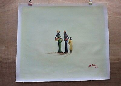 Hand made Modern abstract Oil Painting on Canvas Friendship no frame #099