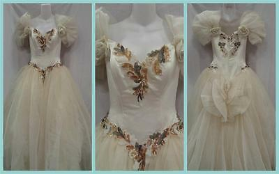 EVE OF MILADY Ivory Buttercream Puffy Curvy Ball Gown Sequin Bead Wedding Dress