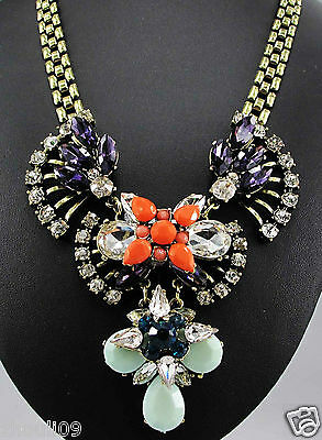 New Design Lady Bib Statement inspiration clear NEWEST pendant crystal necklace