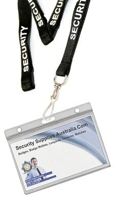 Security Lanyard with 2 Card, Hard ID Holder - Posted with TRACKING is Available