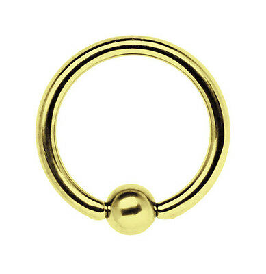 Breast Intimate Piercing Jewelry Captive Ball Ring Bcr 1,6mm with Gold