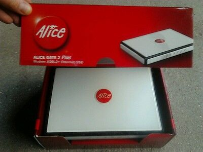 Modem/Router ALICE GATE 2 PLUS WI-FI (ADSL2+) Ethernet/Usb/Wi-Fi imballo complet