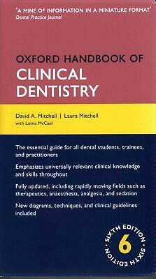Oxford Handbook of Clinical Dentistry by David Mitchell Paperback Book (English)