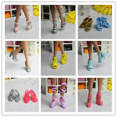 2015 High quality Original 10 pairs shoes for Barbie Doll Party z116