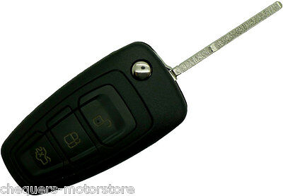 Ford Focus S Max Fiesta Replacement 3 Button Fob Remote Key Case repair
