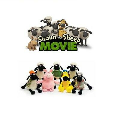 Aardman Animations Shaun The Sheep The MOVIE Soft Plush Toy Choice 6 Characters