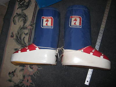 Seagrams 7 Advertising Whiskey Boots 10-10.5 Promo Nice Shape
