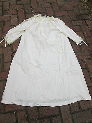 REENACTOR 18TH C REV WAR COLONIAL IVORY NEW COTTON CHEMISE LARGE CANDLELIGHT