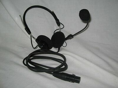 Telex 70340 same as PH-44 dual muff headset noise canceling microphone