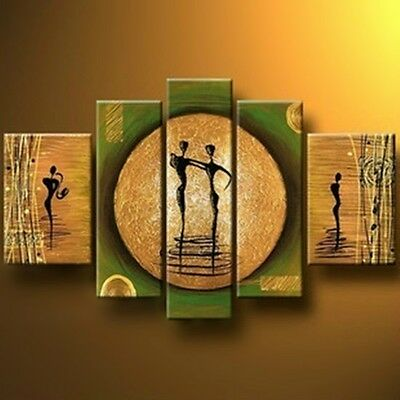 YHA117/ NO Frame/ Hand-painted Modern Abstract Large Oil Painting DANCE Wall Art