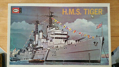 VINTAGE UP HMS TIGER- 1/415 scale, factory sealed bags-directions & Decals Mint-