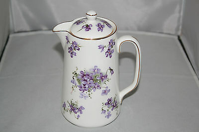 Hammersley Victorian Violets Large Syrup pitcher with Lid