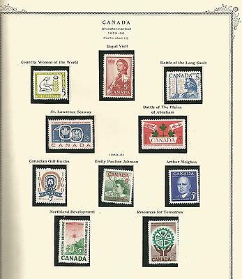 CANADA - ALBUM PAGES - MINT,SOME SLIGHTLY HINGED . 1959-60