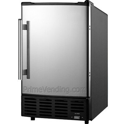 Stainless Steel Built-In Ice Cube Machine, Undercounter Free-Standing Ice Maker