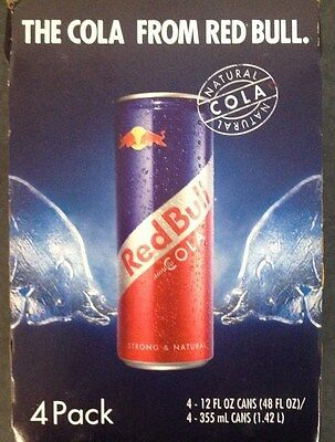 4 Pack - Red Bull Simply Cola 355ml/12 Ozs. FULL CANS Hard to find !! Free S+H !