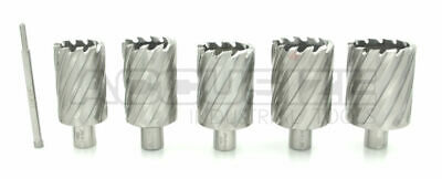 """6 Pcs 1-9/16"""" to 2-1/16"""" Annular Cutters, 2"""" Cutting Depth with Pilot Pin, #R1"""